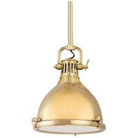 Hudson Valley Lighting Pelham 1 Light Pendant in Aged Brass 2211-AGB