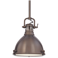 Hudson Valley Lighting Pelham 1 Light Pendant in Historic Bronze 2211-HB