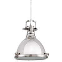 Hudson Valley 2211-PN Pelham 1 Light 11 inch Polished Nickel Pendant Ceiling Light
