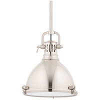 Hudson Valley Lighting Pelham 1 Light Pendant in Satin Nickel 2211-SN