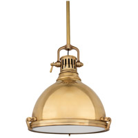 Hudson Valley Lighting Pelham 1 Light Pendant in Aged Brass 2212-AGB