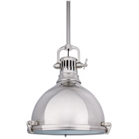 Hudson Valley Lighting Pelham 1 Light Pendant in Satin Nickel 2212-SN