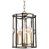Hudson Valley Cresson 4 Light Pendant in Aged Brass 2213-AGB