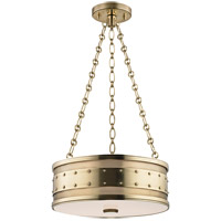 Hudson Valley Lighting Gaines 3 Light Pendant in Aged Brass 2216-AGB