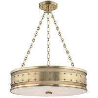 Hudson Valley Lighting Gaines 4 Light Pendant in Aged Brass 2222-AGB