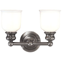 Hudson Valley 2302-AN Riverton 2 Light 14 inch Antique Nickel Bath And Vanity Wall Light