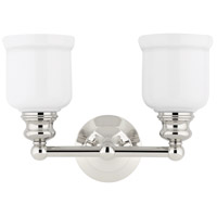 Hudson Valley 2302-PN Riverton 2 Light 14 inch Polished Nickel Bath And Vanity Wall Light