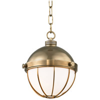 Sumner 1 Light 9 inch Aged Brass Pendant Ceiling Light