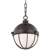 Hudson Valley 2309-OB Sumner 1 Light 9 inch Old Bronze Pendant Ceiling Light White