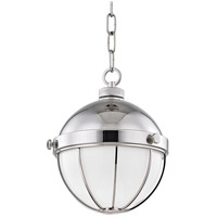 Hudson Valley 2309-PN Sumner 1 Light 9 inch Polished Nickel Pendant Ceiling Light White