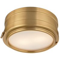 Rye 2 Light 11 inch Aged Brass Flush Mount Ceiling Light