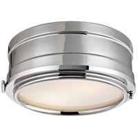 Rye 2 Light 11 inch Polished Nickel Flush Mount Ceiling Light