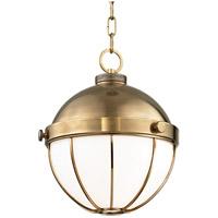 Hudson Valley 2312-AGB Sumner 1 Light 12 inch Aged Brass Pendant Ceiling Light
