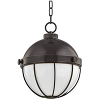 Hudson Valley 2312-OB Sumner 1 Light 12 inch Old Bronze Pendant Ceiling Light White