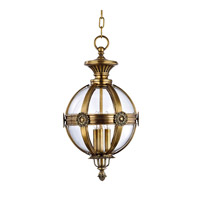 Marietta 3 Light 13 inch Aged Brass Pendant Ceiling Light