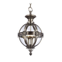 Marietta 3 Light 13 inch Aged Silver Pendant Ceiling Light