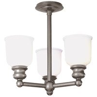 Hudson Valley Lighting Riverton 3 Light Semi Flush in Antique Nickel 2313F-AN
