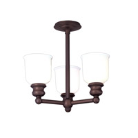 Hudson Valley 2313F-OB Riverton 3 Light 16 inch Old Bronze Semi Flush Ceiling Light