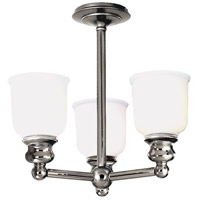 Riverton 3 Light 16 inch Polished Nickel Semi Flush Ceiling Light