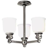 Hudson Valley 2313F-PN Riverton 3 Light 16 inch Polished Nickel Semi Flush Ceiling Light