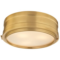 Rye 3 Light 14 inch Aged Brass Flush Mount Ceiling Light