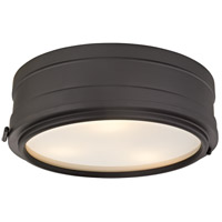 Rye 3 Light 14 inch Old Bronze Flush Mount Ceiling Light