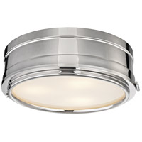 Rye 3 Light 14 inch Polished Nickel Flush Mount Ceiling Light