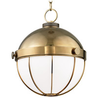Sumner 1 Light 14 inch Aged Brass Pendant Ceiling Light