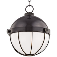 Sumner 1 Light 14 inch Old Bronze Pendant Ceiling Light, White