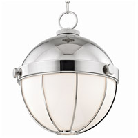 Sumner 1 Light 14 inch Polished Nickel Pendant Ceiling Light, White