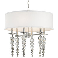 Hudson Valley 2324-PN Persis 6 Light 24 inch Polished Nickel Pendant Ceiling Light