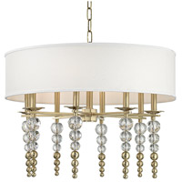 Hudson Valley 2330-AGB Persis 8 Light 30 inch Aged Brass Pendant Ceiling Light