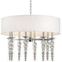 Persis 8 Light 30 inch Polished Nickel Pendant Ceiling Light