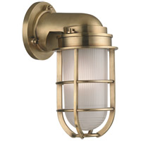 Hudson Valley Lighting Carson 1 Light Wall Sconce in Aged Brass 240-AGB