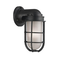 Hudson Valley Lighting Carson 1 Light Wall Sconce in Aged Zinc 240-AZ