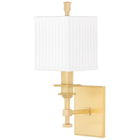 Hudson Valley Lighting Berwick 1 Light Wall Sconce in Aged Brass 241-AGB