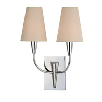Hudson Valley Lighting Berkley 2 Light Wall Sconce in Polished Chrome with Eco Paper Shade 2412-PC