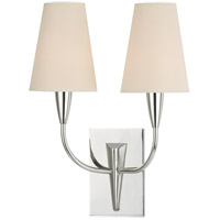 Berkley 2 Light 12 inch Polished Nickel Wall Sconce Wall Light in Eco Paper