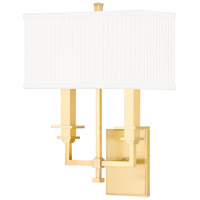 Hudson Valley 242-AGB Berwick 2 Light 13 inch Aged Brass Wall Sconce Wall Light