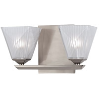 Hammond 2 Light 10 inch Satin Nickel Bath Vanity Wall Light