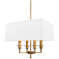 Hudson Valley 244-AGB Berwick 4 Light 18 inch Aged Brass Chandelier Ceiling Light