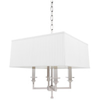 Hudson Valley 244-PN Berwick 4 Light 18 inch Polished Nickel Chandelier Ceiling Light
