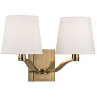 Hudson Valley Lighting Clayton 2 Light Wall Sconce in Aged Brass 2462-AGB