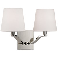 Hudson Valley Lighting Clayton 2 Light Wall Sconce in Polished Nickel 2462-PN