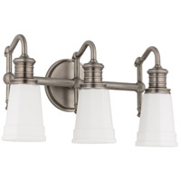 Bradford 3 Light 17 inch Antique Nickel Bath And Vanity Wall Light