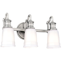 Bradford 3 Light 17 inch Polished Nickel Bath And Vanity Wall Light