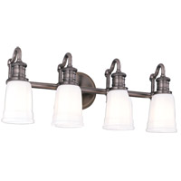 Hudson Valley 2504-AN Bradford 4 Light 24 inch Antique Nickel Bath And Vanity Wall Light