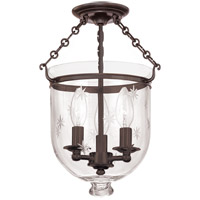 Hudson Valley Lighting Hampton 3 Light Semi Flush in Old Bronze 251-OB-C3