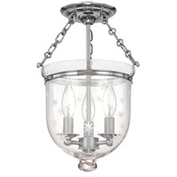 Hudson Valley 251-PN-C3 Hampton 3 Light 10 inch Polished Nickel Semi Flush Ceiling Light in C3