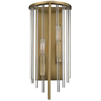 Lewis 2 Light 7 inch Aged Brass Wall Sconce Wall Light